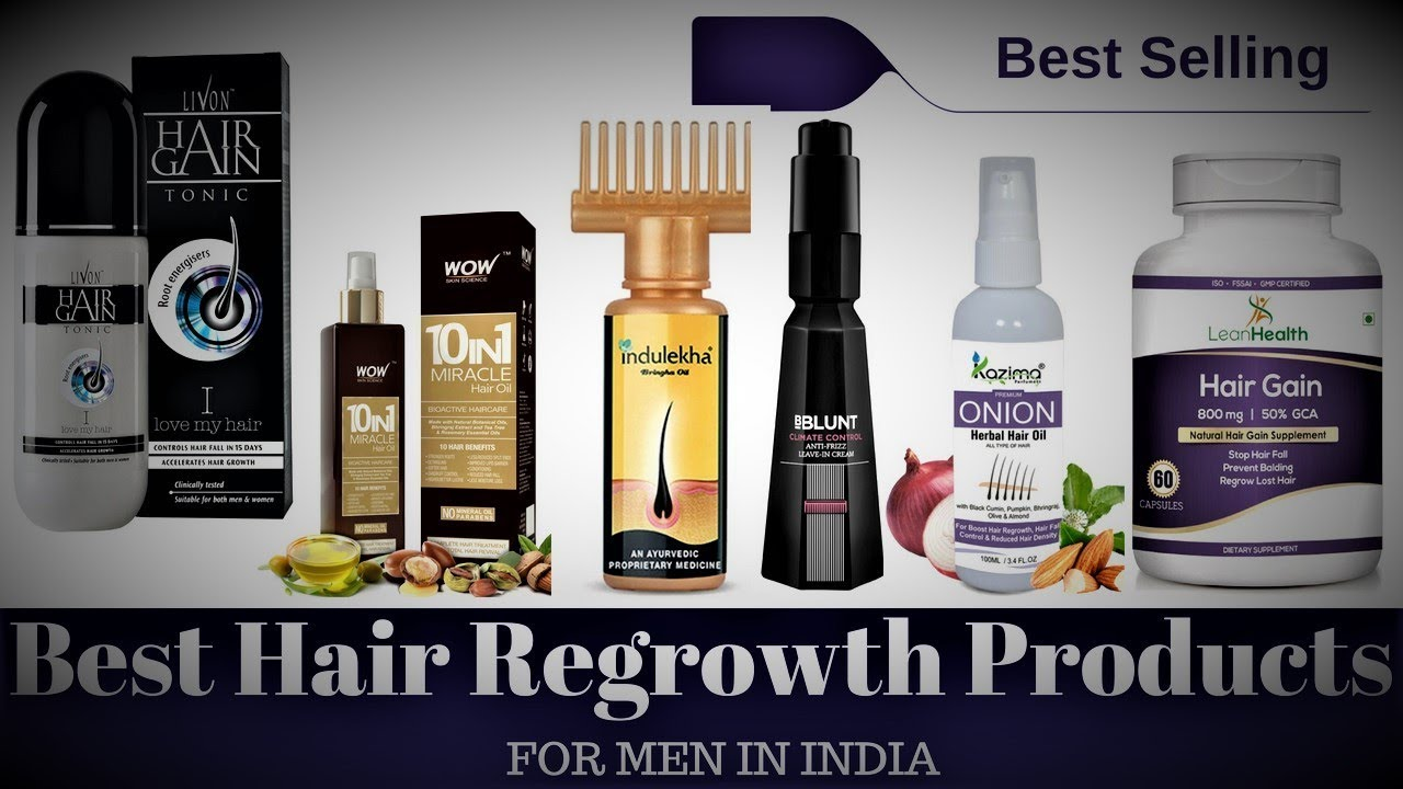 10 Amazing Hair Regrowth Products In India You Must Try Once For Better Result Youtube