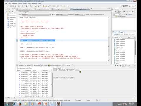 SQL ORDERBY DESC QUERY DEMO