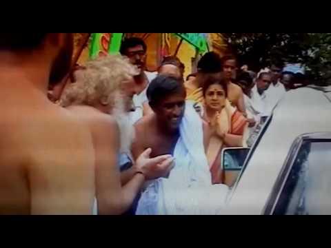 Venkatachala Avadhoota Performing Aarti to Sringeri Jagadguru at Birur