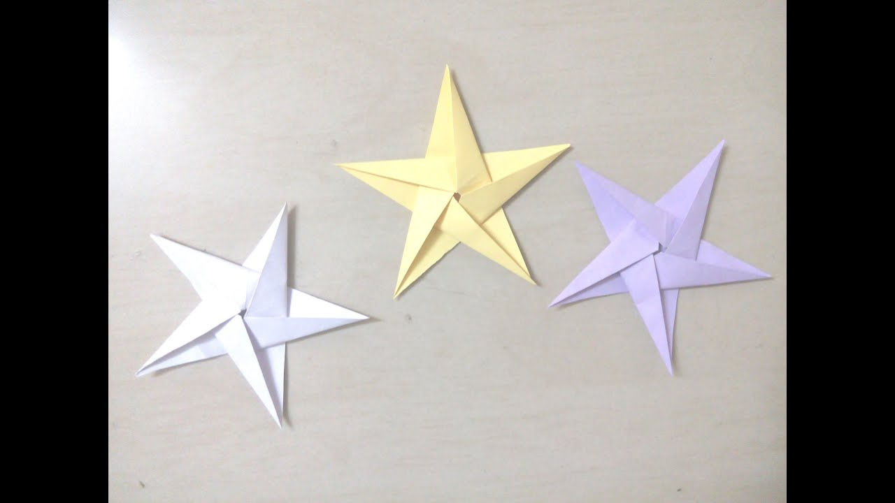DIY: How to make 5 point star, Christmas star - Origami ... - photo#4