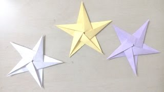 DIY: How to make 5 point star, Christmas star - Origami for Kids