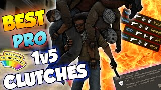 CS:GO - BEST PRO 1v5 CLUTCHES OF ALL TIME! ft. shroud, s1mple, Hiko & More!