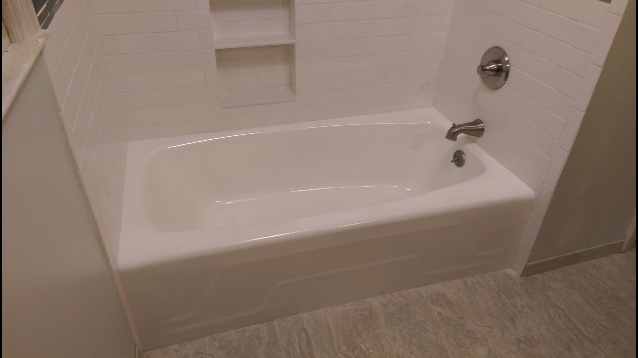 reglazing refinishing after service kowalski bathtub bath total large project tub paint