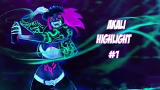 Akali Highlight #1 League of Legends - TheGodZero