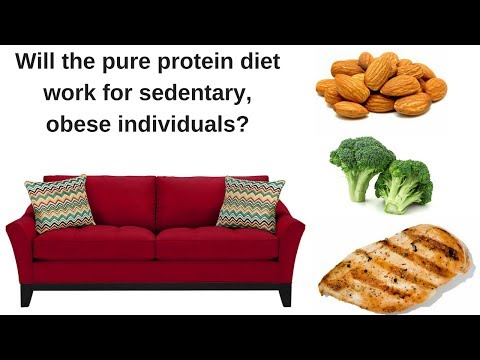 Will the pure protein diet work for sedentary, obese individuals? -- How to lose A LOT of weight