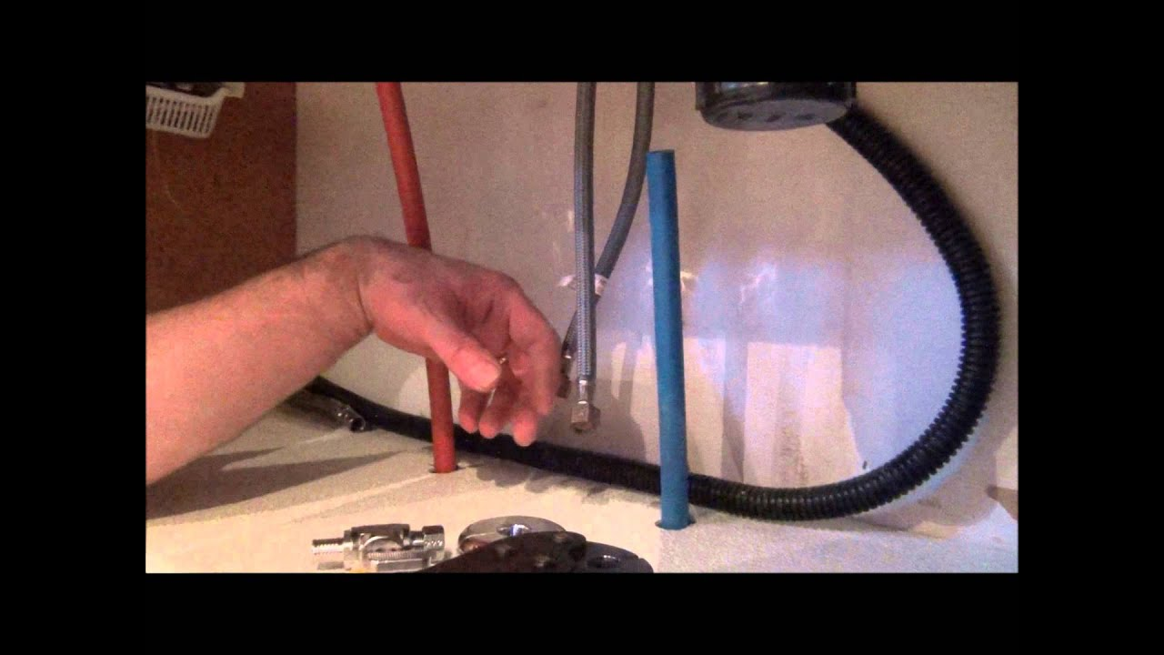 Homedepot Kitchen Faucet How To Install Pex Pipe Waterlines In Your Home Part 3