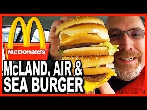 McDonald's ★ Secret Menu Item ★ The McLand, Air and Sea Burger Food Review | KBDProductionsTV