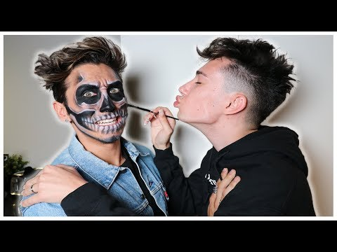 JAMES CHARLES DOES MY MAKEUP FOR HALLOWEEN!!
