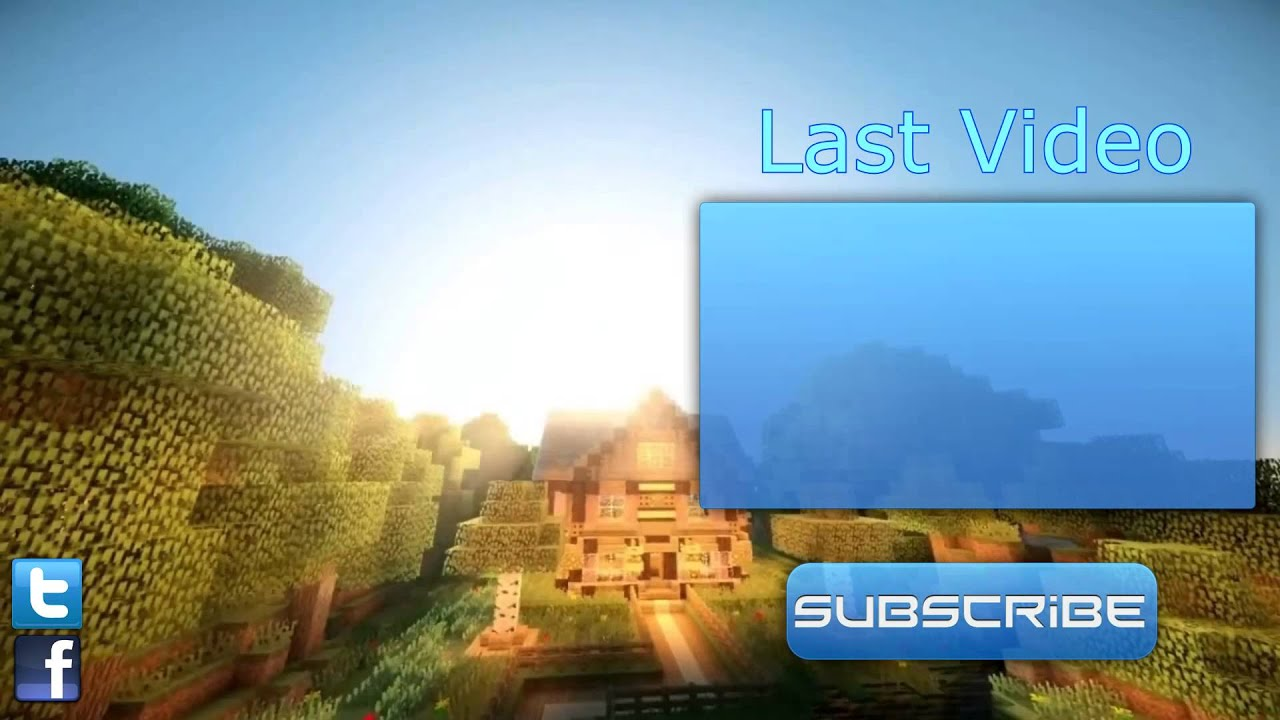 Minecraft outro template with download link in description for Minecraft outro template movie maker