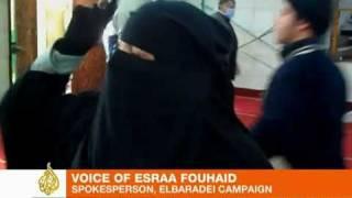 Egypt's Friday of wrathفتاة منقبة تشارك في مظاهرات جمعة الغضب
