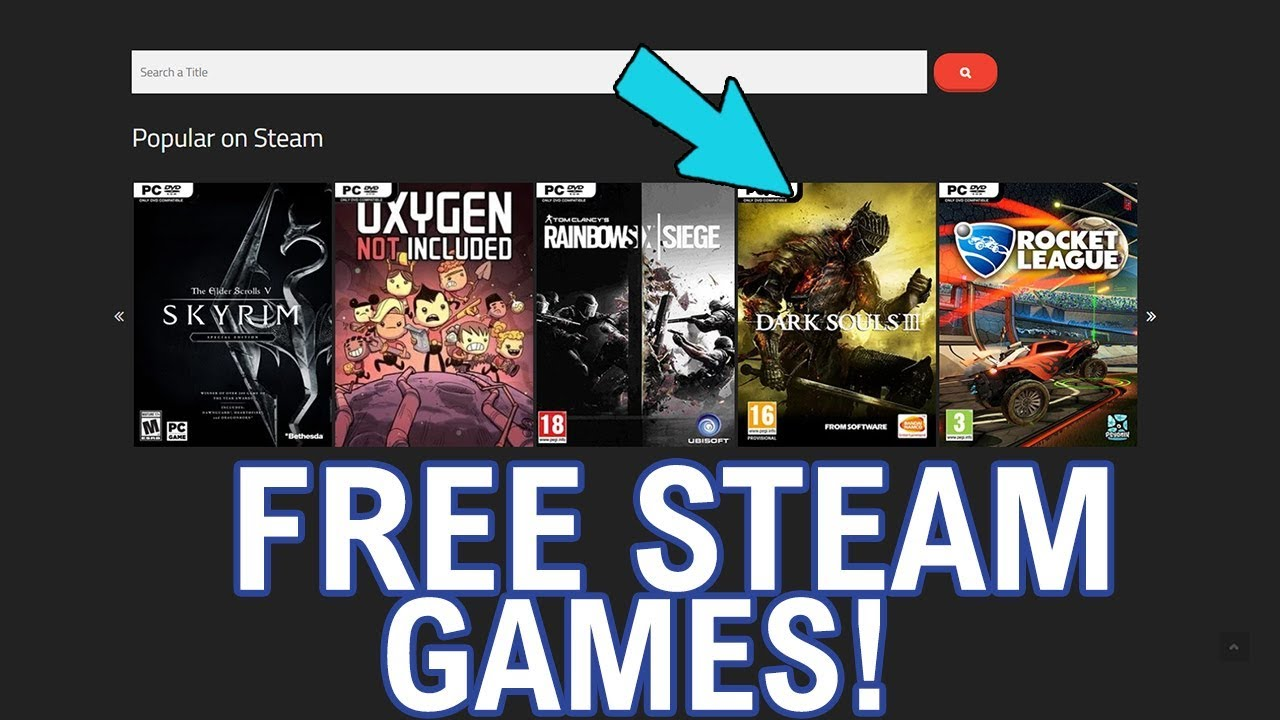 Get Paid STEAM GAMES FREE! Download FREE STEAM GAMES! ( Working as of 2018
