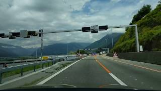 Location of Tesla accident in Ticino, Switzerland
