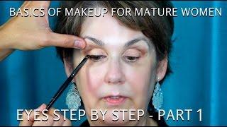 How to do Makeup for Women Over 60 Part 1  Mature Eyes Tutorial - mathias4makeup