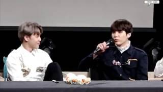 161028 BTS fansign - Jimin makes Yoongi flustered