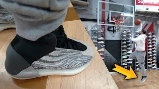 Playing in YEEZY QNTM Basketball SHOE!! WORTH THE HYPE?? (PERFORMANCE REVIEW)