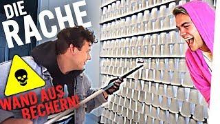 CRISPYROB WOHNUNG PRANK: DIE 1000 BECHER WAND 💦☄️ (Stürzt sie ein?) DIE RACHE