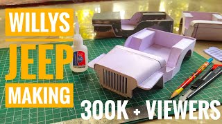 How to Make   Handmade Miniature  Willys Jeep   Part-1 