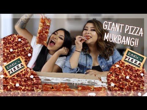 Giant Pizza Mukbang.