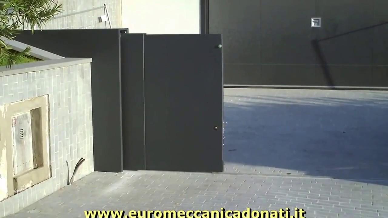 Cancelli Scorrevoli A Due Ante.Cancello Scorrevole Telescopico A 3 Ante A Sale Marasino Bs Youtube