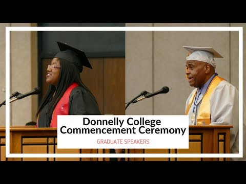 2018 Donnelly College Commencement: Graduate Speakers