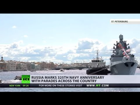Russia celebrates Navy Day on 325th anniversary of service