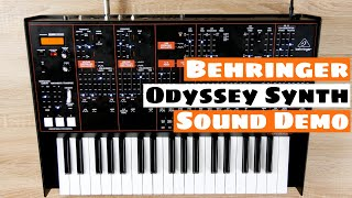 Behringer ODYSSEY Analog Synthesizer (Beta) Sound Demo | SYNTH ANATOMY