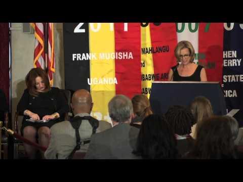 Kerry Kennedy on 2013 RFK Human Rights Award Honore Ragia Omran