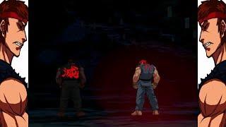 Mugen - Street Fighter Mirror Match - Evil Ryu (SF3 Custom) vs. Evil Ryu (CVS2 Custom) - 殺意隆 vs. 殺意隆
