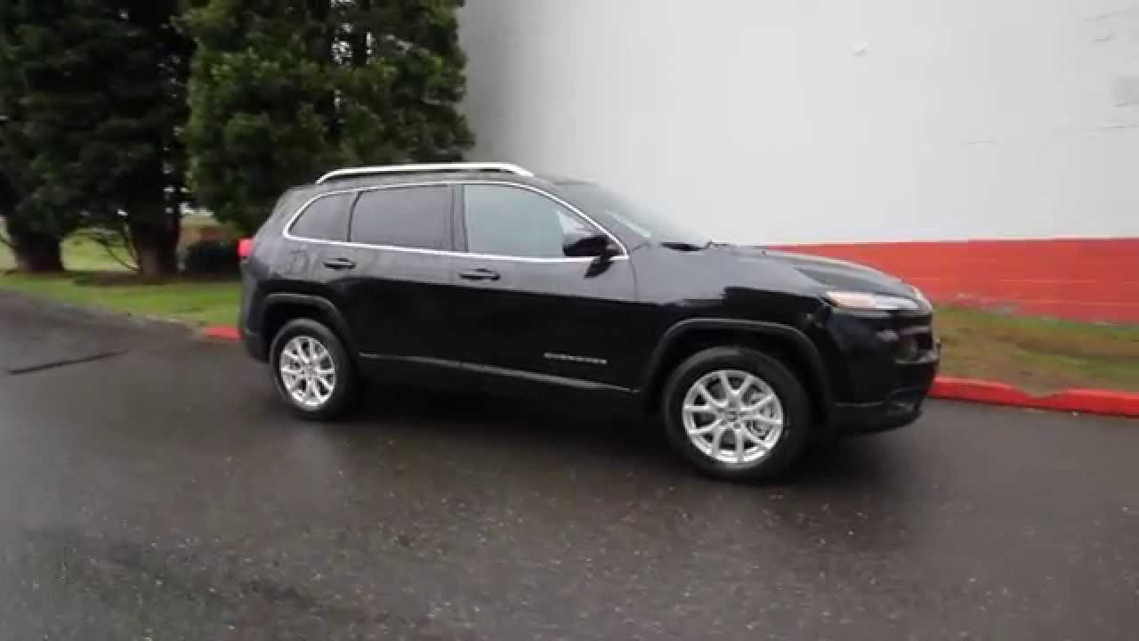 2015 jeep cherokee latitude black crystal fw604991 redmond seattle youtube. Black Bedroom Furniture Sets. Home Design Ideas