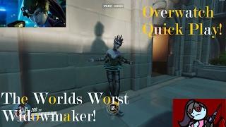 The Worlds Worst Widowmaker!- Overwatch Quick Play!