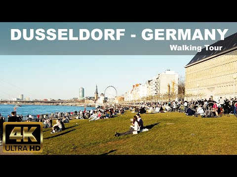 DUSSELDORF   GERMANY   4K Walking Tour