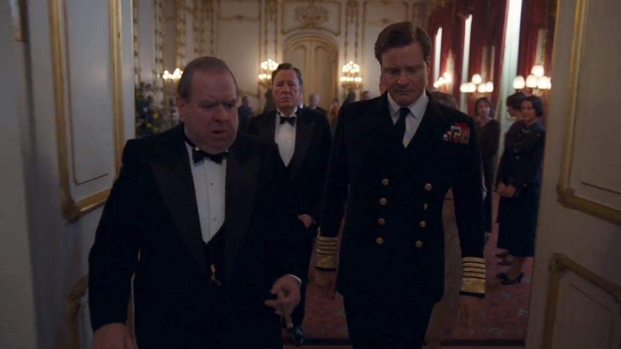 The King S Speech Best Scene Colin Firth Geoffrey Rush Timothy Spall Winston Churchill Youtube