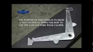 Forklift Fork Inspection - Cascade Fork Wear Caliper Training