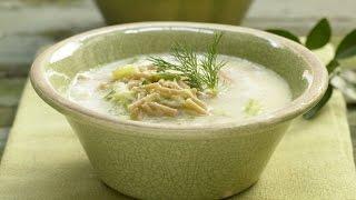 Греческий суп. Куриный суп с макаронами