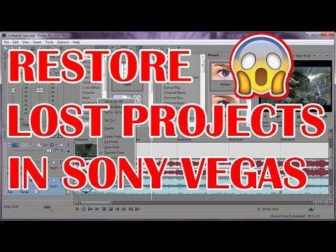 RESTORE LOST FILES/PROJECTS IN SONY VEGAS PRO [works 100%]