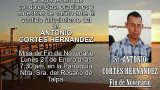 Sr. Antonio Cortes Hernandez Fin de Novenario