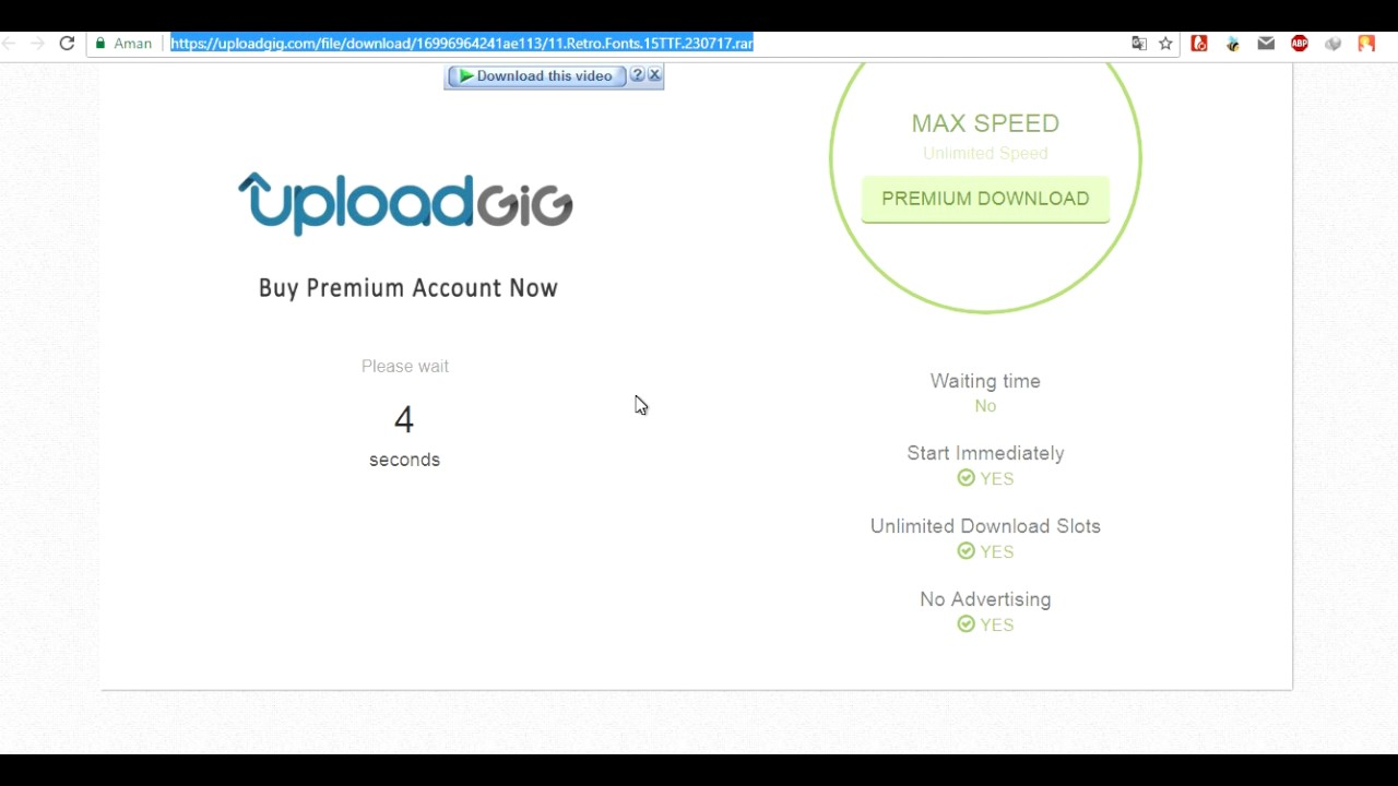 How to download from uploadgig com - YouTube