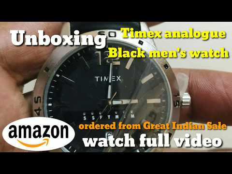 Unboxing Timex analogue watch | Ordered from Amazon great Indian festival sale | genuine leatherbelt