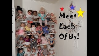 Meet Each of MariahsReborns1 27 Reborn and Silicone Babies and Toddler 2018