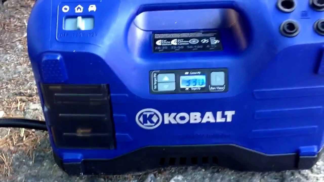 Quick Demo Of Kobalt Portable Compressor Youtube