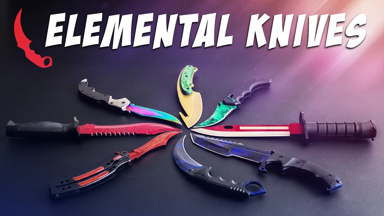 the elemental knives case opening real cs go knives youtube