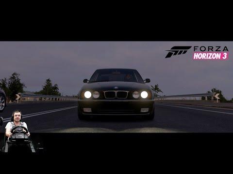 Самая брутальная BMW - M5 E34 - Forza Horizon 3 на руле Logitech G920