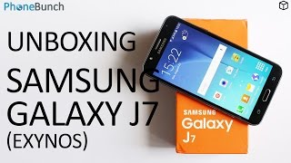 Samsung Galaxy J7 India Unboxing and Overview