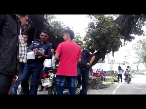 CPU Police Beating A Boy in Haldwani