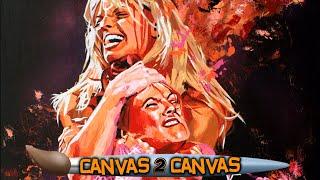 The rivalary of Lita & Trish Stratus revolutionizes the canvas: WWE Canvas 2 Canvas