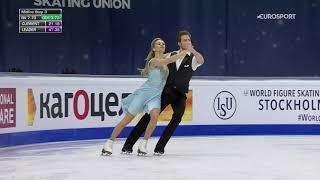 Виктория Синицина Никита Кацалапов ритм танец на чемпионате мира по фигурному катанию