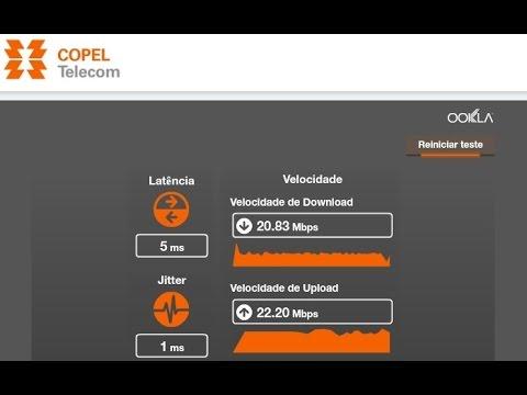 62aef8562f07a Teste velocidade Internet Copel Fibra 20 Mbps vs Internet Oi 5 Mbps ...