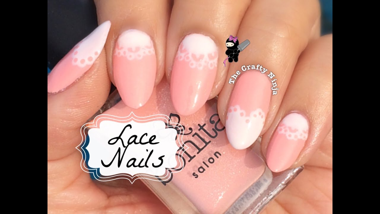 Bridal Lace Nails By The Crafty Ninja