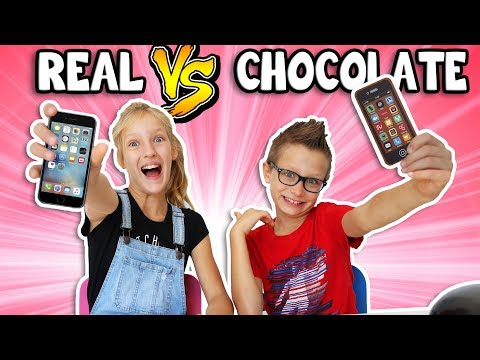 Thumbnail: CHOCOLATE vs REAL 2!!!!!!