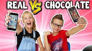 CHOCOLATE vs REAL 2!!!!!!